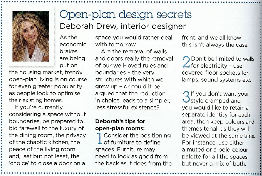 BBC Good Homes Magazine - Feb 2009: Open Plan Secrets