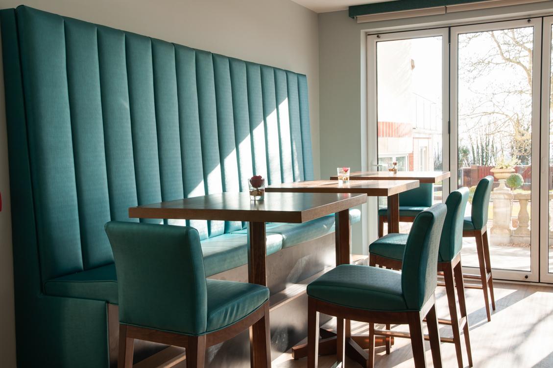Holm House Hotel Dining Room Fixed Seating 2 Deborah Drew Designs